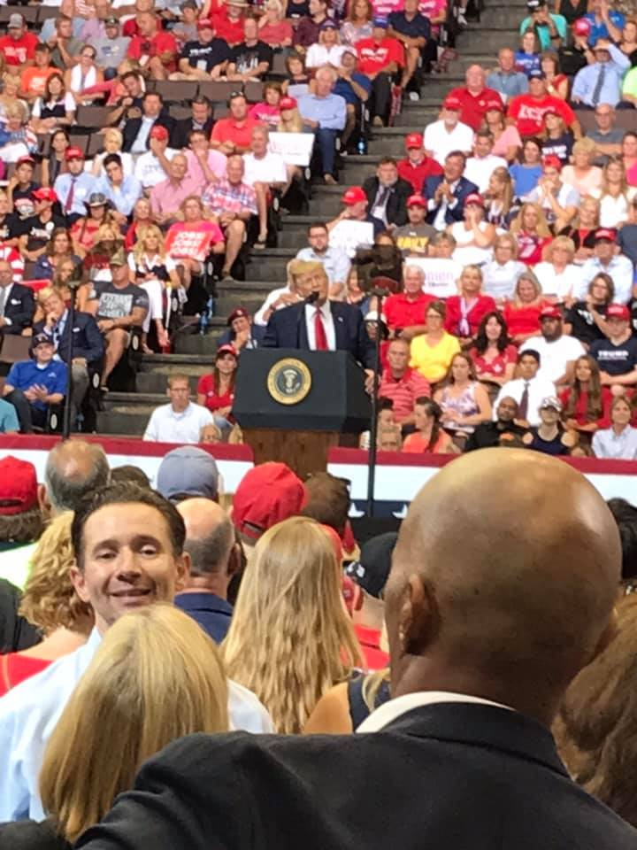 President Trump Makes Campaign Stop In Cincinnati