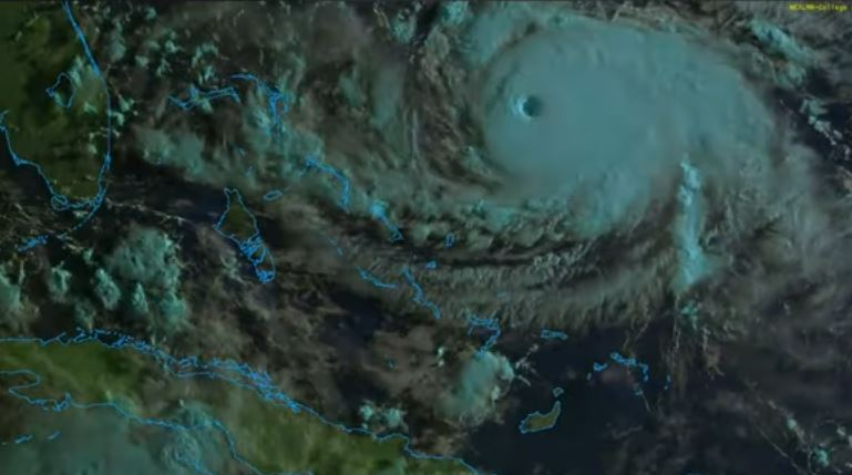Bahamas and Southeast US Coast on High Alert - Hurricane Dorian Cat 5 - 160 MPH