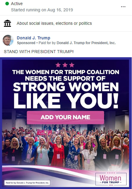 Women for Trump Banned on Facebook