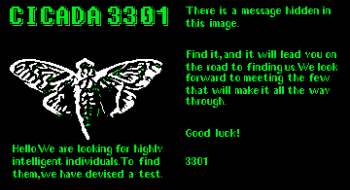 Cicada was touted as the internet's toughest puzzle and the name of a puzzle put out by the cryptic group known as 3301.