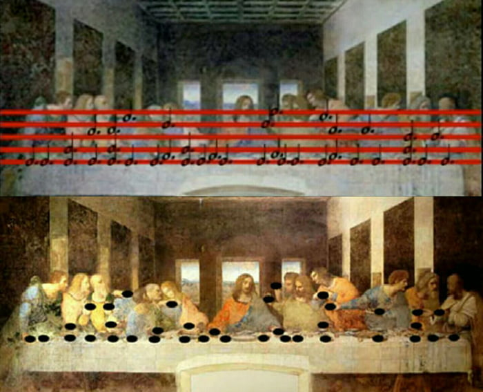 "Leonardo DaVinci's ""Last Supper"" painting contains an astonishing encoded, musical message"