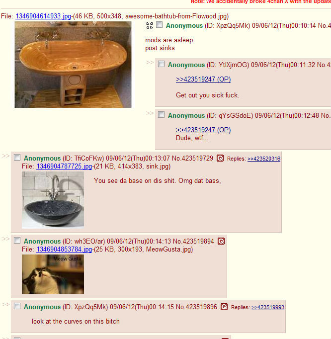 Screenshot of an example where pictures of Sinks were used to embed and hide illegal and disgusting images