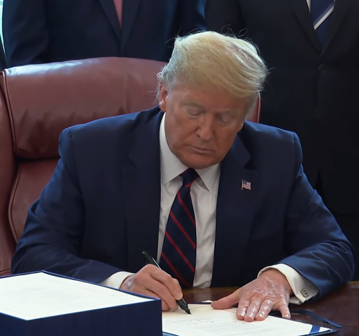President Trump Signs CARES Act