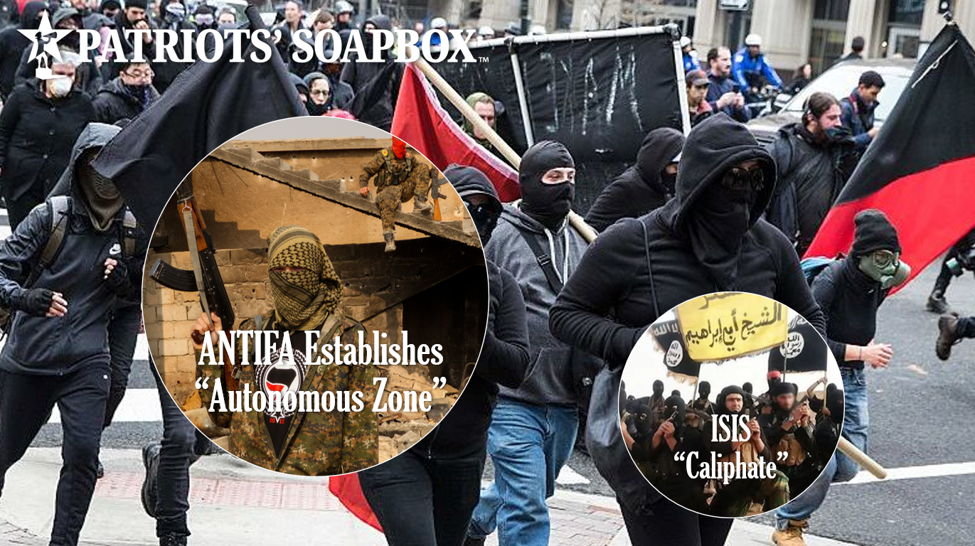 "Using Paramilitary & ISIS Tactics, ANTIFA Takes Over ""Abandoned"" Seattle East Precinct, Creates Lawless ""Autonomous Zone"""