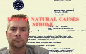 U.S. Capital Police Officer Brian Sicknick Cause of Death 2 STROKES, Natural Causes
