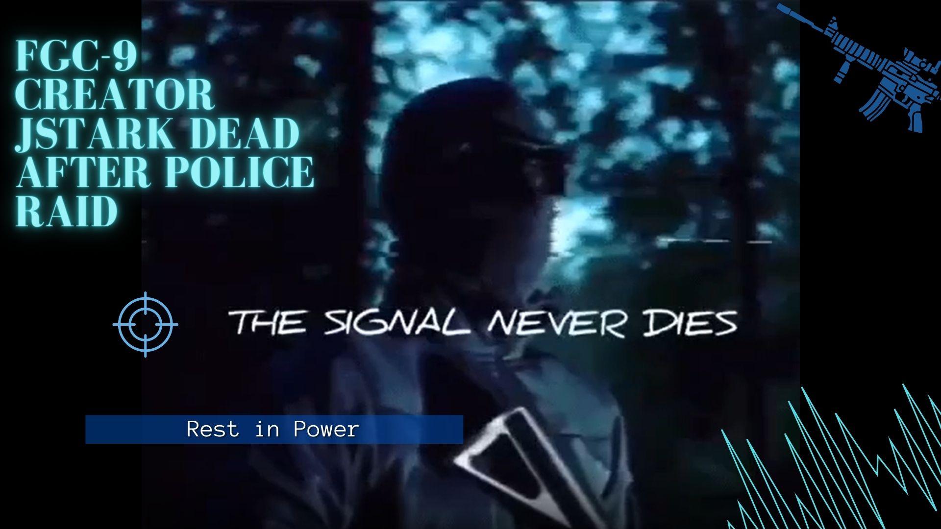 JStark, Designer of FGC-9 3D Printed Gun Dead Two Days After Police Raid
